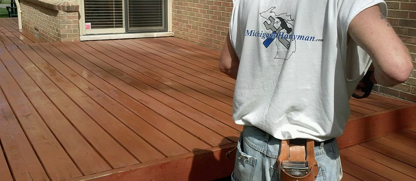 Clinton Township Deck Staining Waterproofing